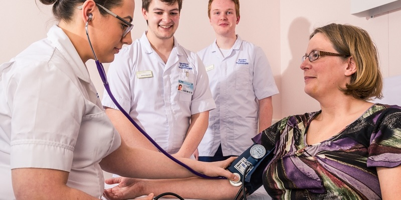 The university of leeds cardiac physiology students go out on placement from semester one and throughout the course to ensure they graduate ready to practice and fully qualifies.