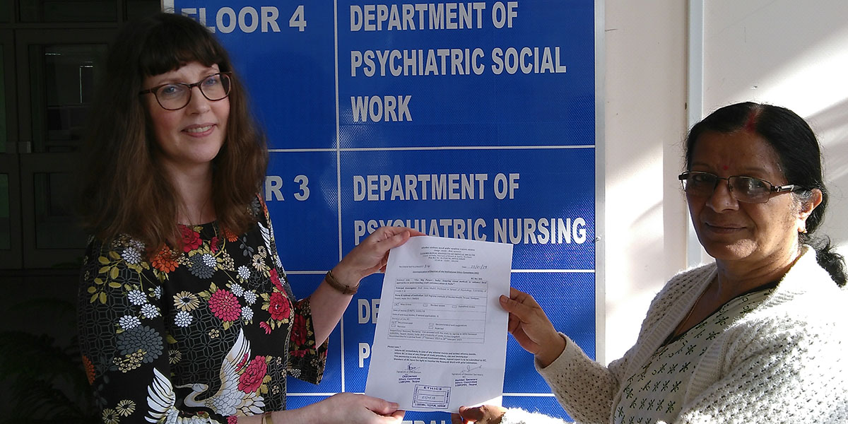 Ethical approval for 'The Big Picture' research from the Regional Institute of Mental Health in Assam